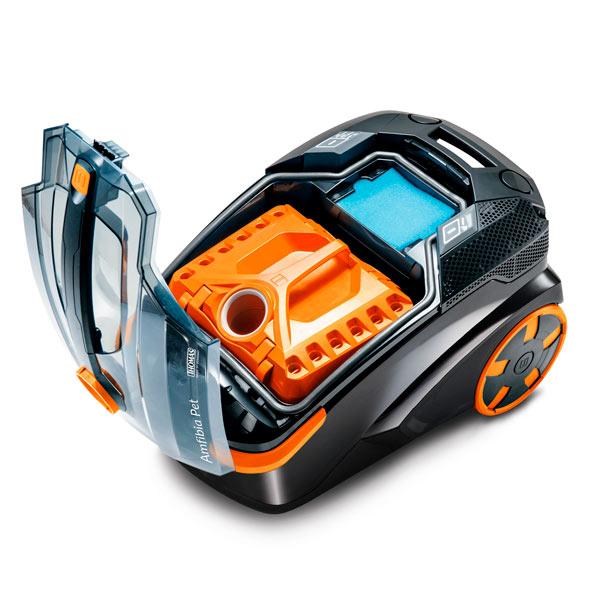 Моющий пылесос Thomas 788598 Drybox Amfibia Pet, черный, оранжевый