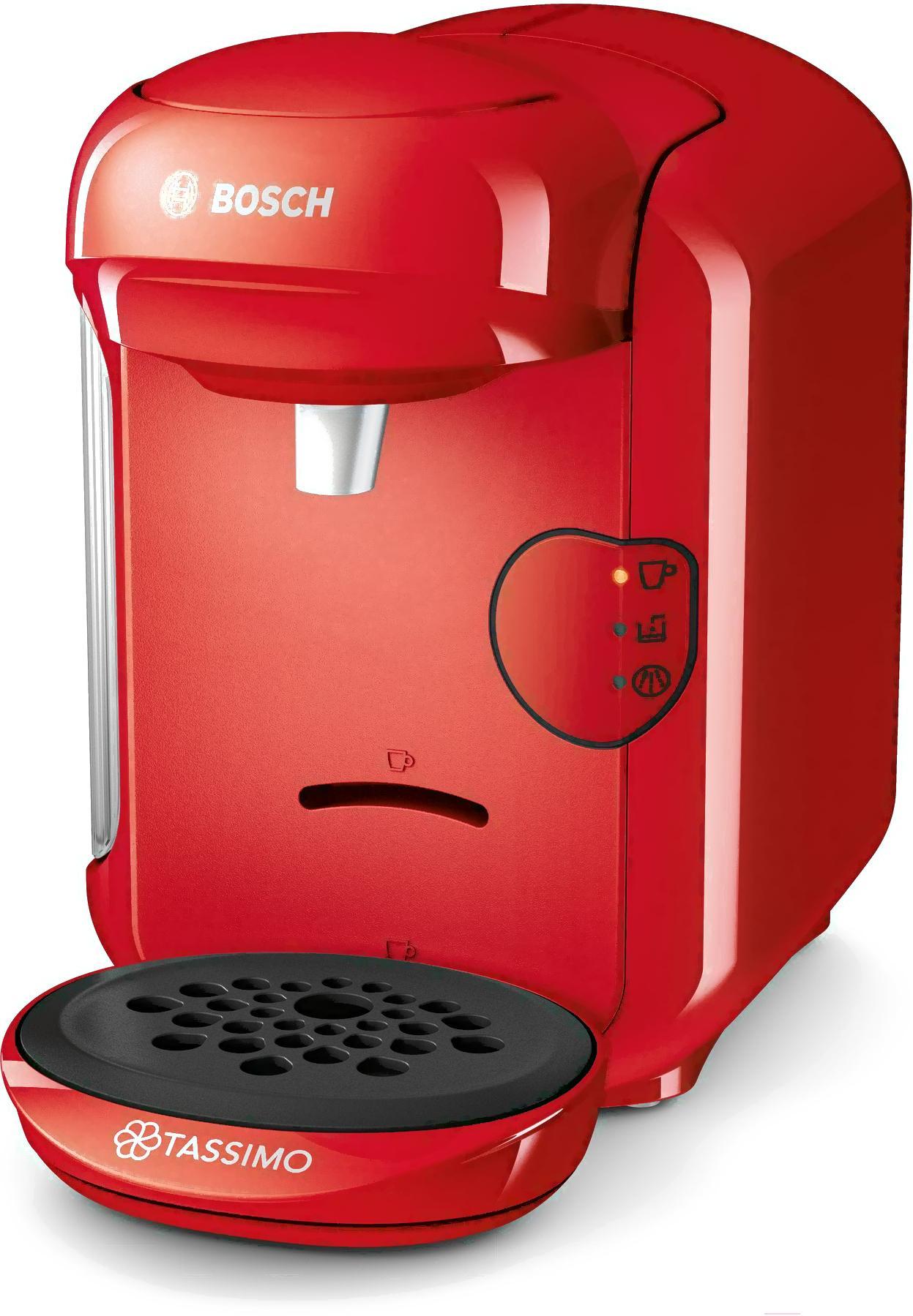 Капсульная кофемашина Bosch Tassimo Vivy II TAS1403, красный Уцененный товар (№47)