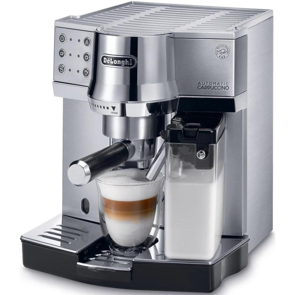 Кофеварка эспрессо Delonghi ec850m 1450вт серебристый