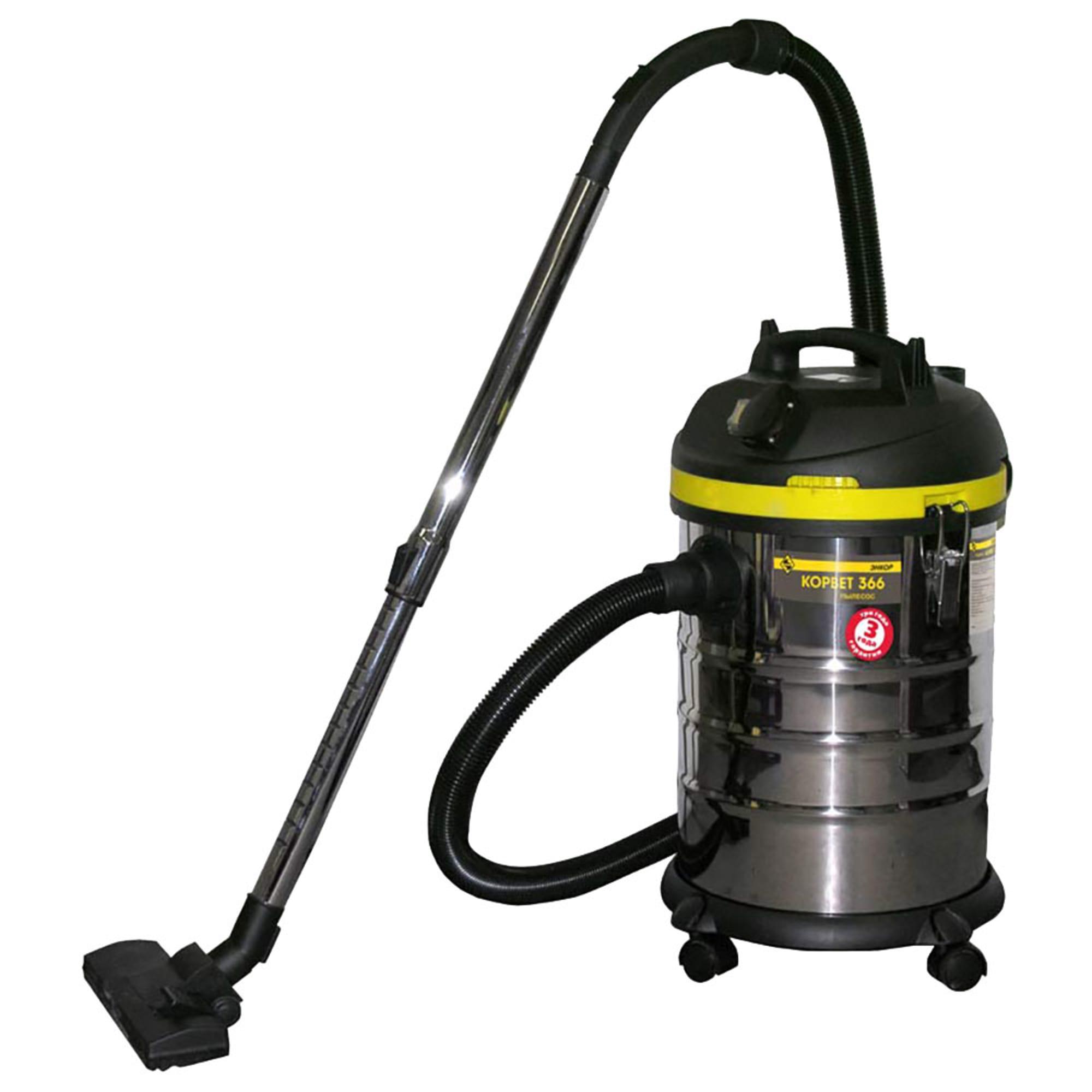 Пылесос Энкор Корвет 366, для влажной и сухой уборки, 1400 Вт, 93660