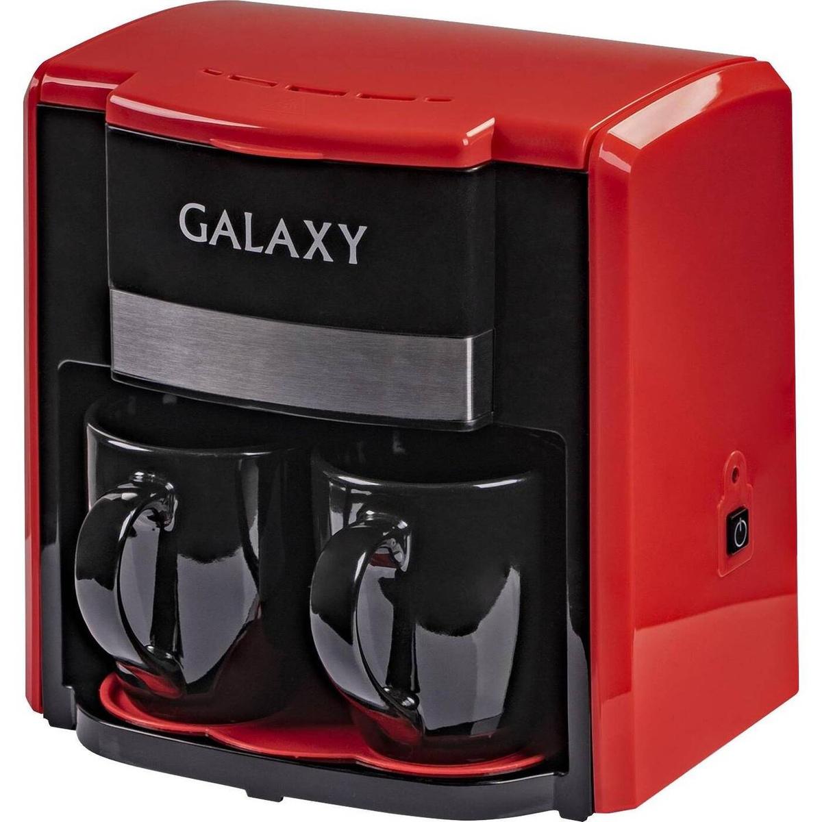 Кофеварка / кофемашина Galaxy GL0708 (красный)